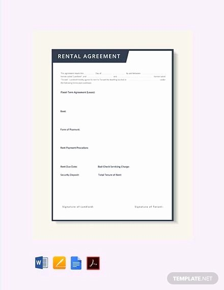 Ms Word Rental Agreement Template Beautiful Free Rental Agreement Template 24 Free Word Pdf