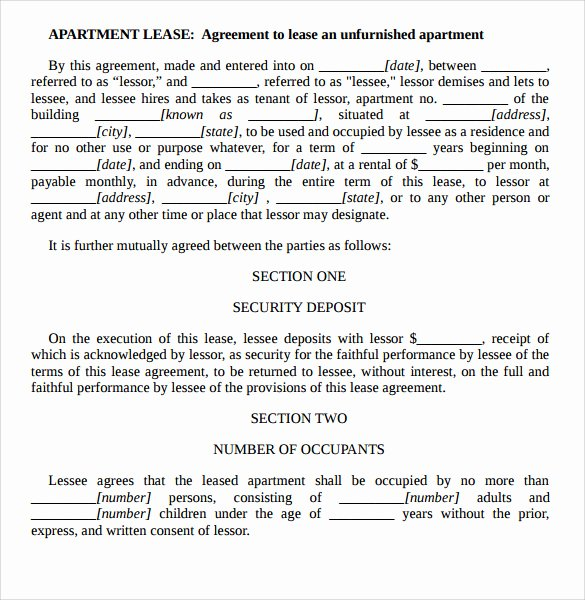 Ms Word Rental Agreement Template Beautiful Sample Apartment Rental Agreement Template 7 Free