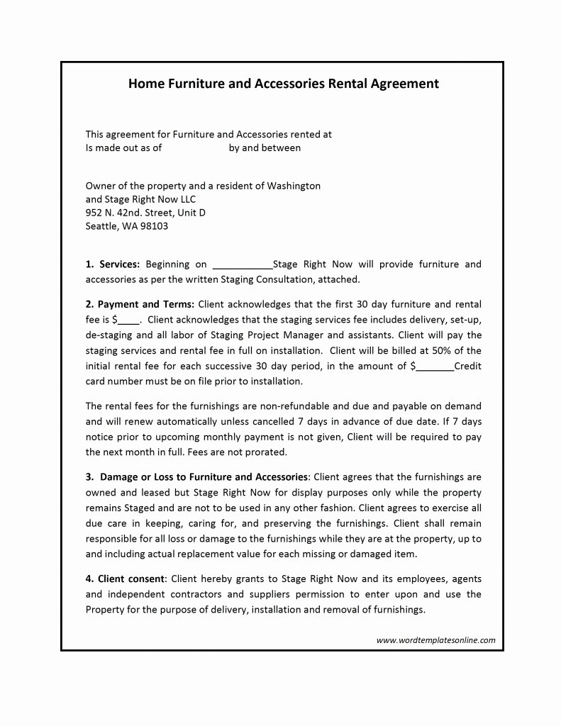 Ms Word Rental Agreement Template Elegant Rental Contract Template