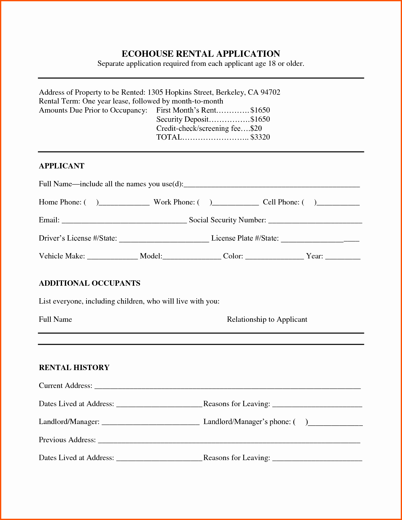 Ms Word Rental Agreement Template Inspirational 6 Rental Lease Agreement Template Word