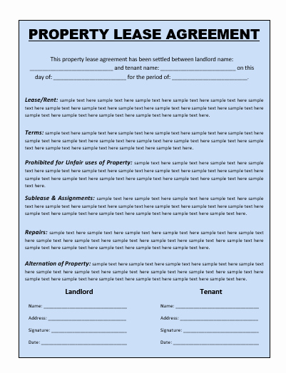 Ms Word Rental Agreement Template Lovely Lease Agreement Template