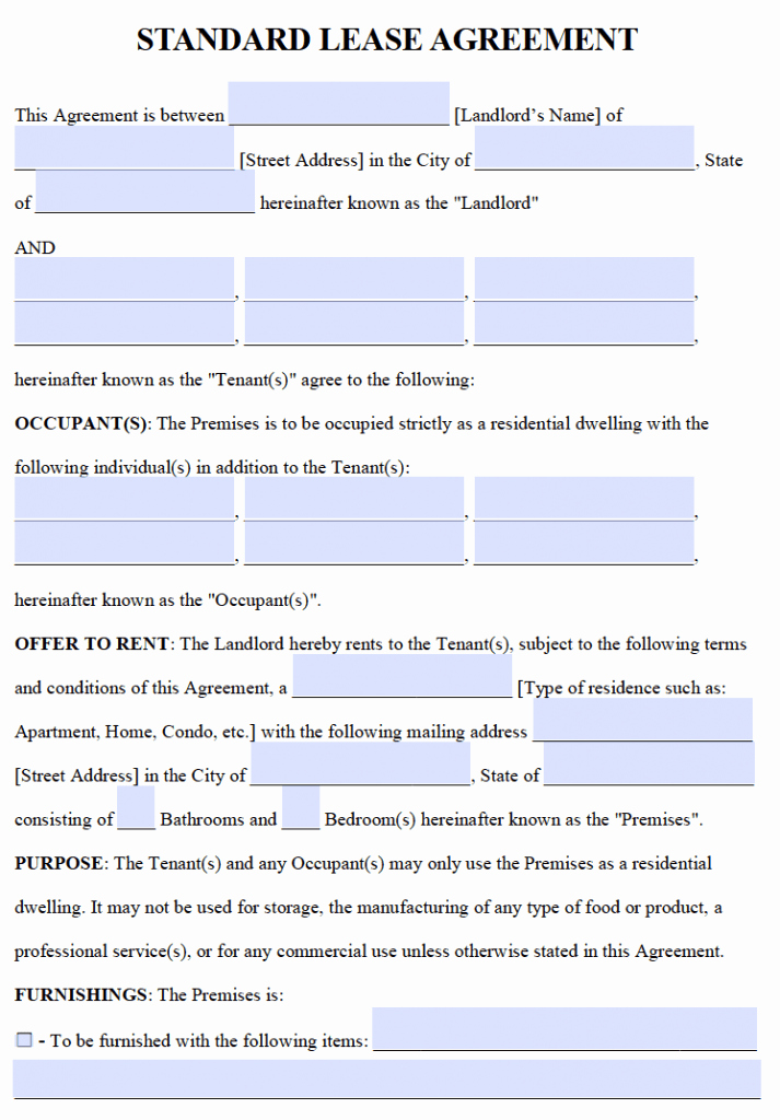 Ms Word Rental Agreement Template New Free Residential Lease Agreements – Pdf and Word Templates