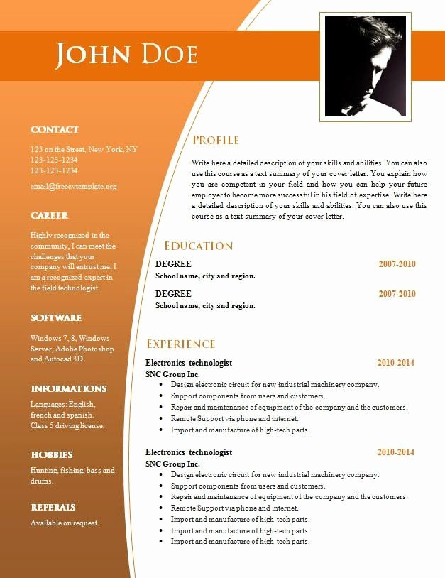 Ms Word Resume Examples Awesome Pin On Balaji