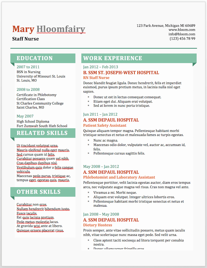 Ms Word Resume Examples Elegant 25 Free Resume Templates for Microsoft Word & How to Make