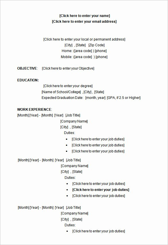 Ms Word Resume Examples New A Successful Resume Template Open Fice for Job Seeker