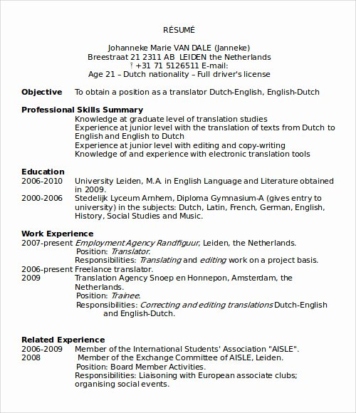 Ms Word Resume Examples Unique Sample Microsoft Word Templates Download Free Documents