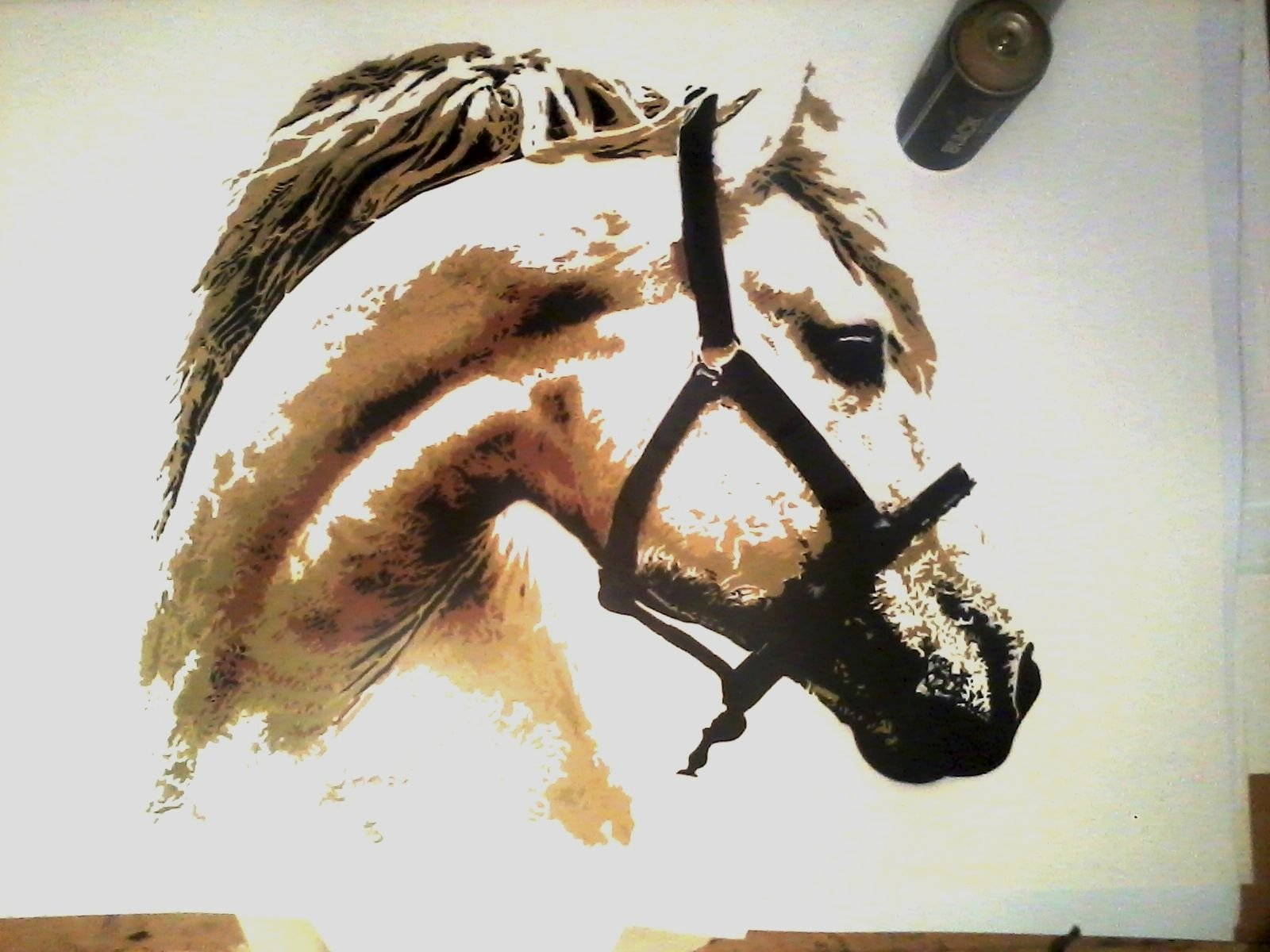 Multi Layer Stencil Art Inspirational Horse Head Multilayer Stencil Art