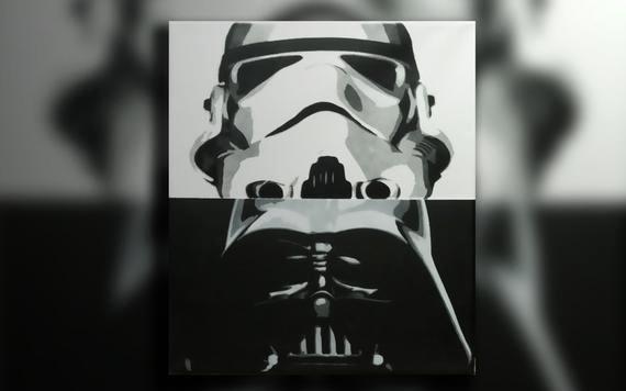 Multi Layer Stencil Art Luxury 14x11in Star Wars Multi Layer Stencil On Canvas