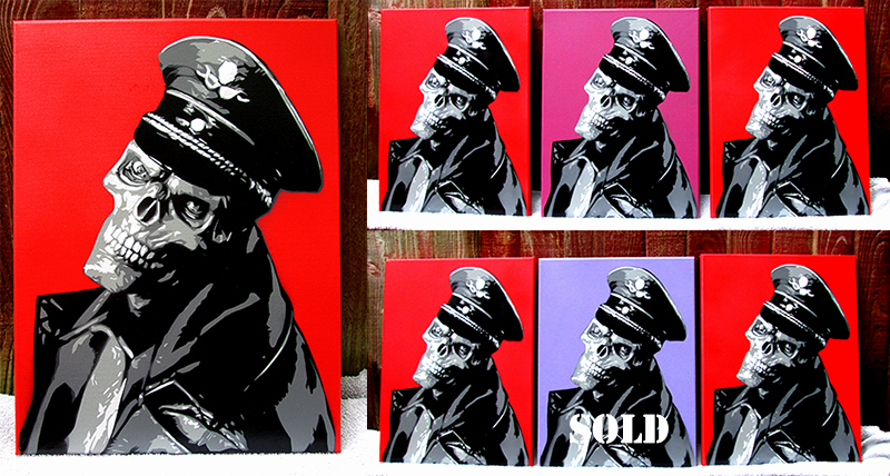 "Multi Layer Stencil Art Unique Red Skull "" by Rip Artist – Multi Layer Stencil On Canvas"