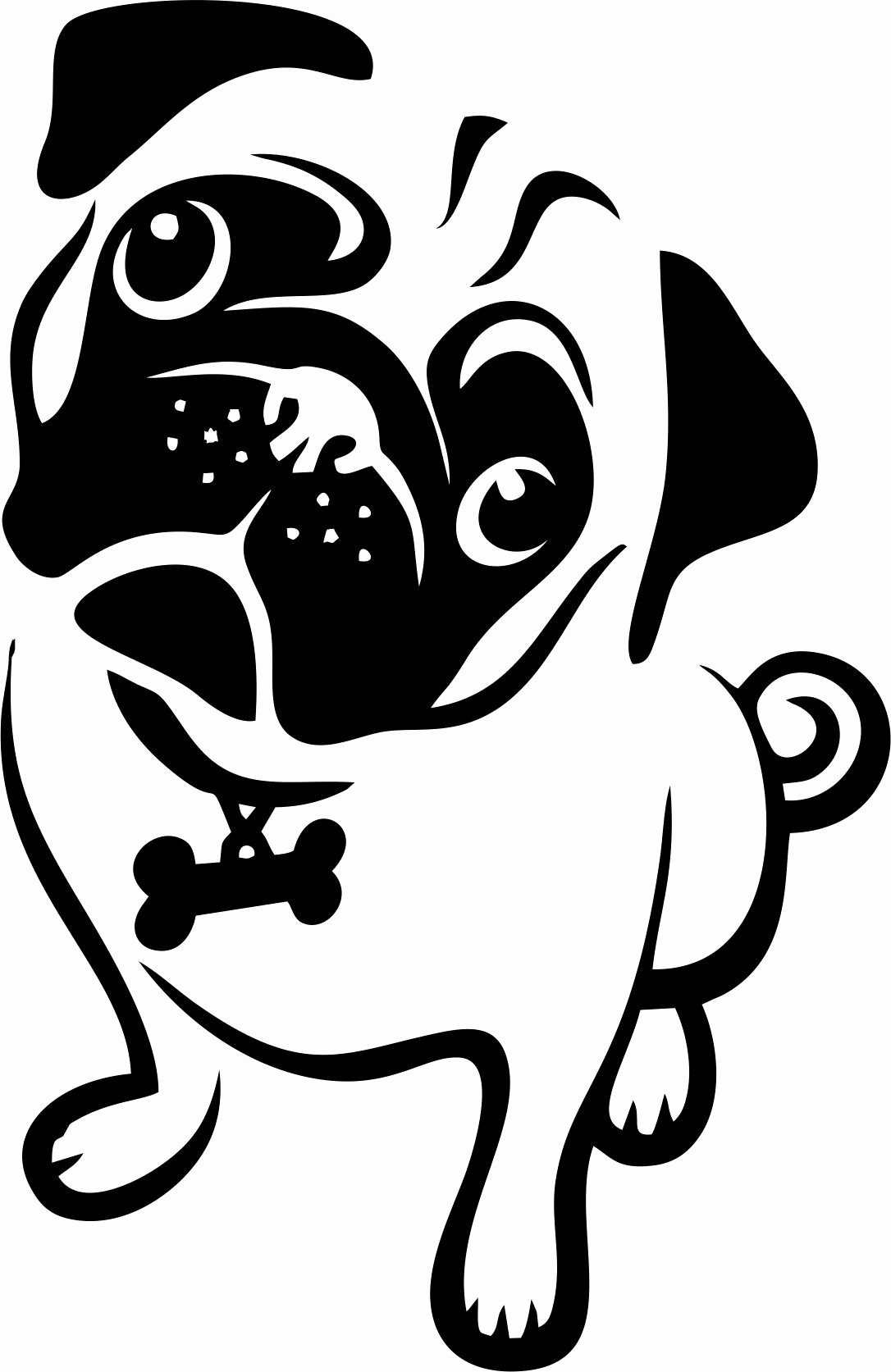 Multi Layer Stencil Templates Beautiful Pug Multi Layer Stencil Laser Cut From Mylar