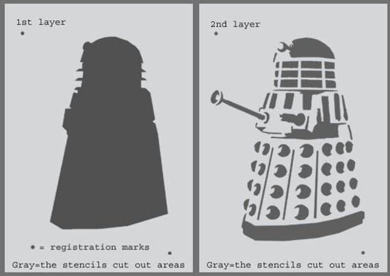Multi Layer Stencil Templates Best Of Dalek Stencil Dr who Wall Art Stencil Multi Layered Stencil