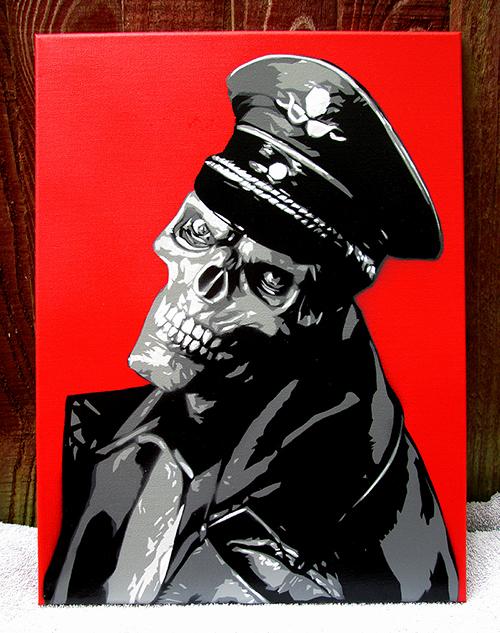"Multi Layer Stencil Templates Elegant Red Skull "" by Rip Artist – Multi Layer Stencil On Canvas"