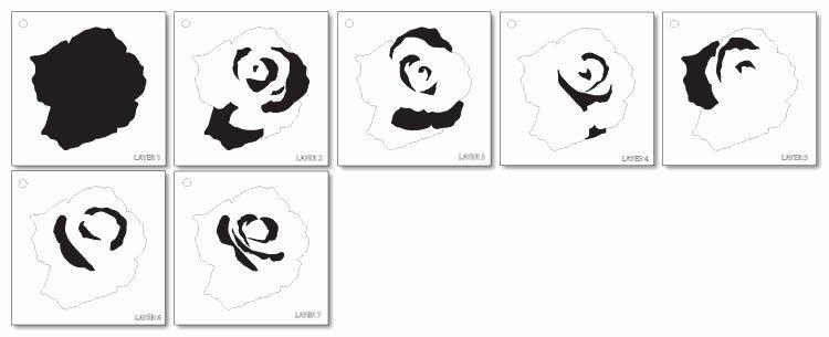 Multi Layer Stencil Templates New Elegant Rose Coaster Layered Art Stencil Multi Part