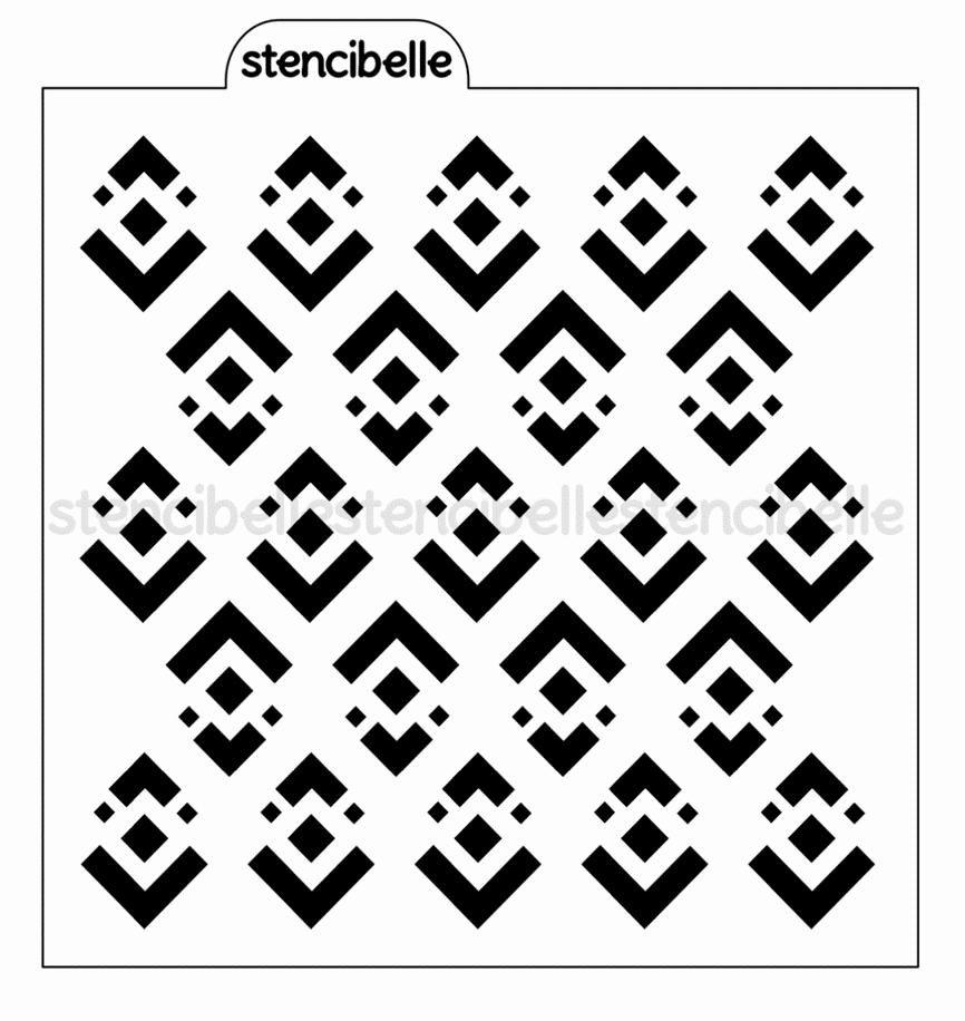 Multi Layer Stencils for Sale Best Of Art Deco Diamonds Stencil – Stencibelle