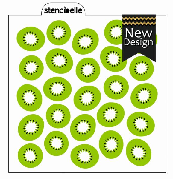 Multi Layer Stencils for Sale Inspirational Kiwi Fruit 3 Piece Stencil Set – Stencibelle