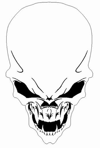 Multi Layer Stencils for Sale Luxury Alien Skull 1 Airbrush Stencil Air Brush Template