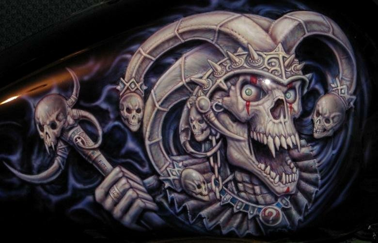Multi Layered Airbrush Stencils Awesome Euro 9 6 Stage Multi Layer Step by Step Airbrush Skull