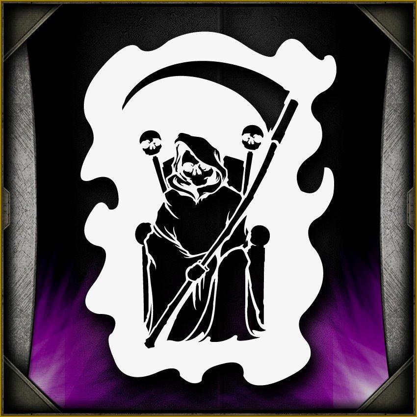 Multi Layered Airbrush Stencils Awesome Grim Reaper 13 Airbrush Stencil Template Airsick