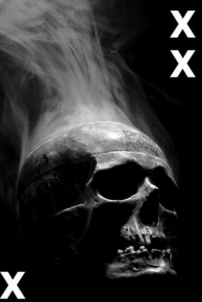 Multi Layered Airbrush Stencils Awesome Skull In the Dark with Smoke Airbrush Stencil – Multi