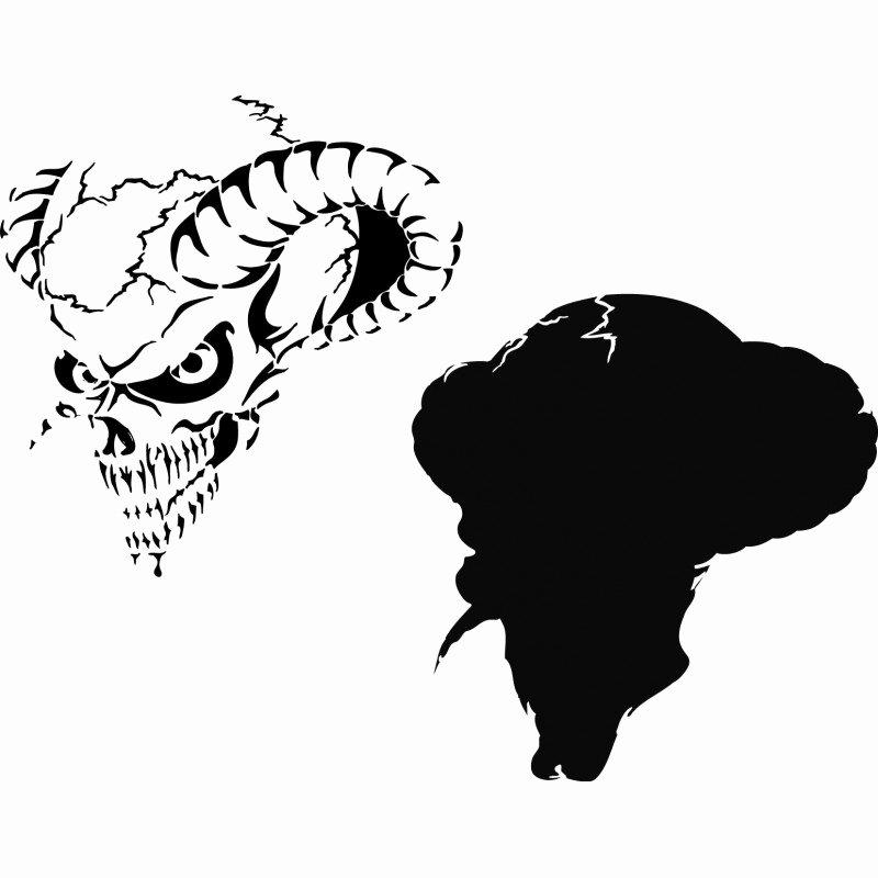 Multi Layered Airbrush Stencils Luxury Airbrush Stencil Skull Multi Layer