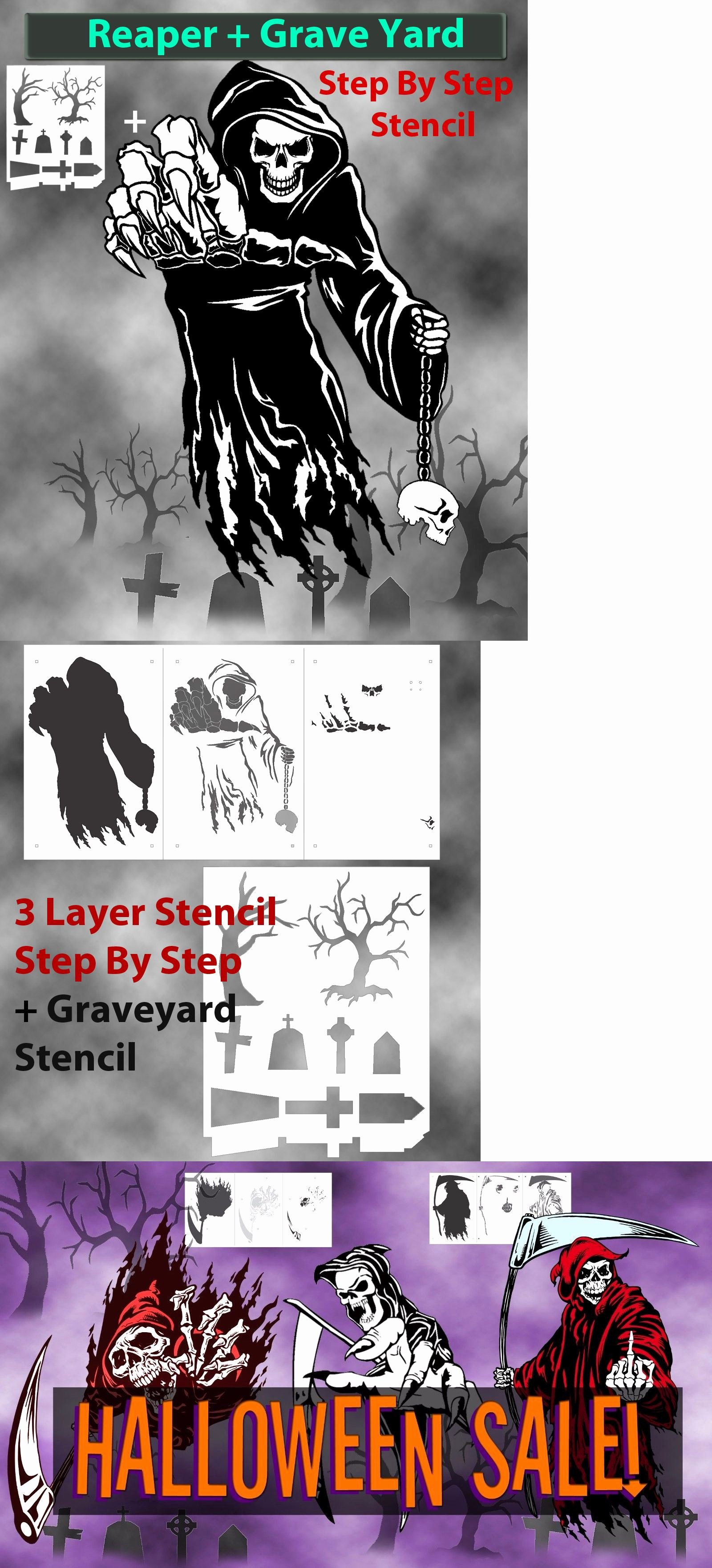 Multi Layered Airbrush Stencils Luxury Stencils and Templates Grim Reaper 11 Airbrush