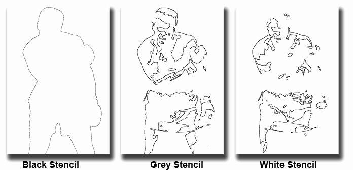 Multi Layered Airbrush Stencils Unique Stencil Tutorials Learn How to Make A 3 Part Multi Layer