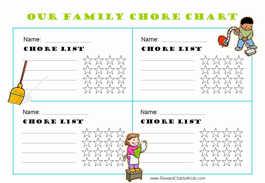 Multiple Child Chore Chart Beautiful Free Family Chore Chart