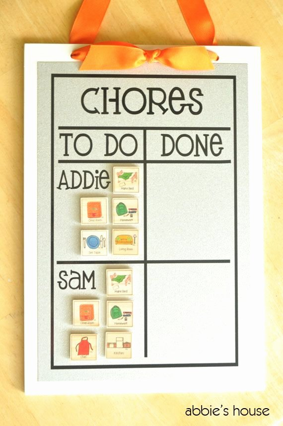 Multiple Child Chore Chart Beautiful Multiple Child Chore Chart 12 Magnets 9 X 13 Magnetic