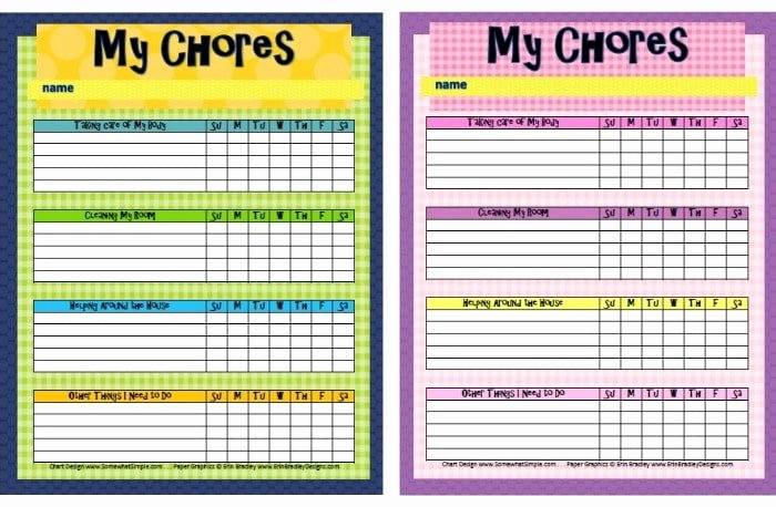 Multiple Child Chore Chart Elegant Free Printable Chore Charts for Kids