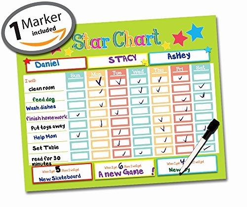 Multiple Child Chore Chart Unique Chore Charts for Multiple Kids Amazon