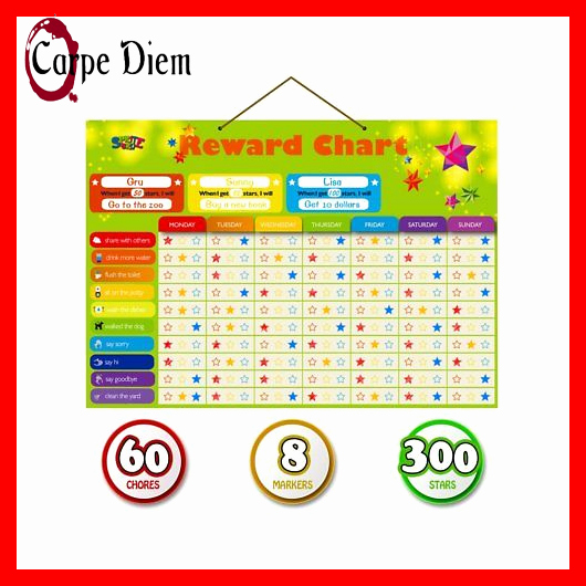 Multiple Children Chore Chart Awesome Magnetic Reward Behavior Star Chore Chart for E or