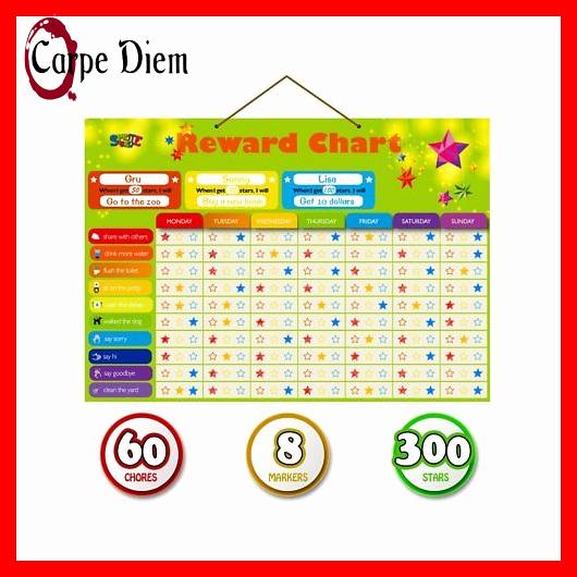 Multiple Children Chore Chart Awesome Magnetic Reward Behavior Star Chore Chart for E or