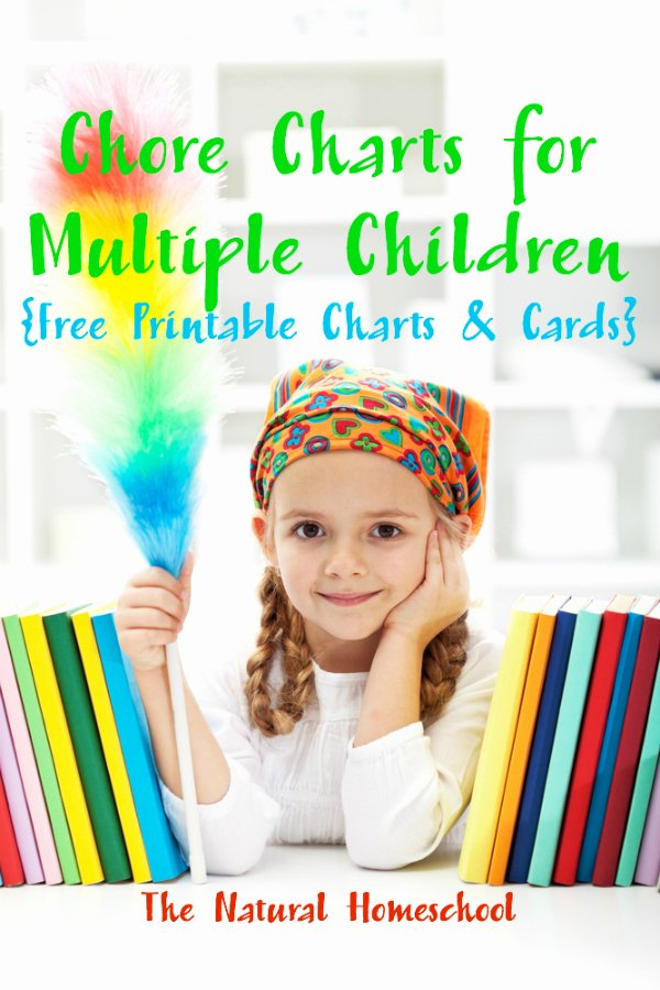 free printable chore charts for variety of ages