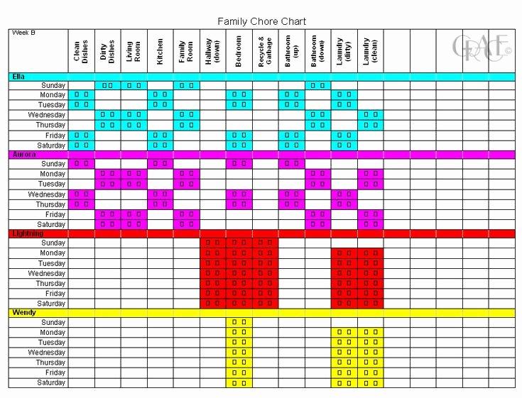 Multiple Children Chore Chart Lovely Chore Charts for Multiple Children