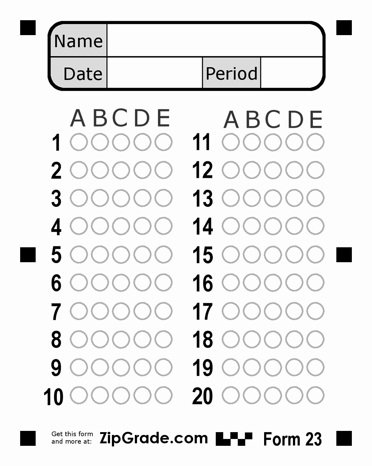 Multiple Choice Answer Sheet Awesome Bubble Answer Sheet 1 50