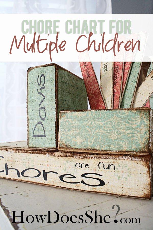 Multiple Kids Chore Chart Beautiful Chore Chart for Multiple Children