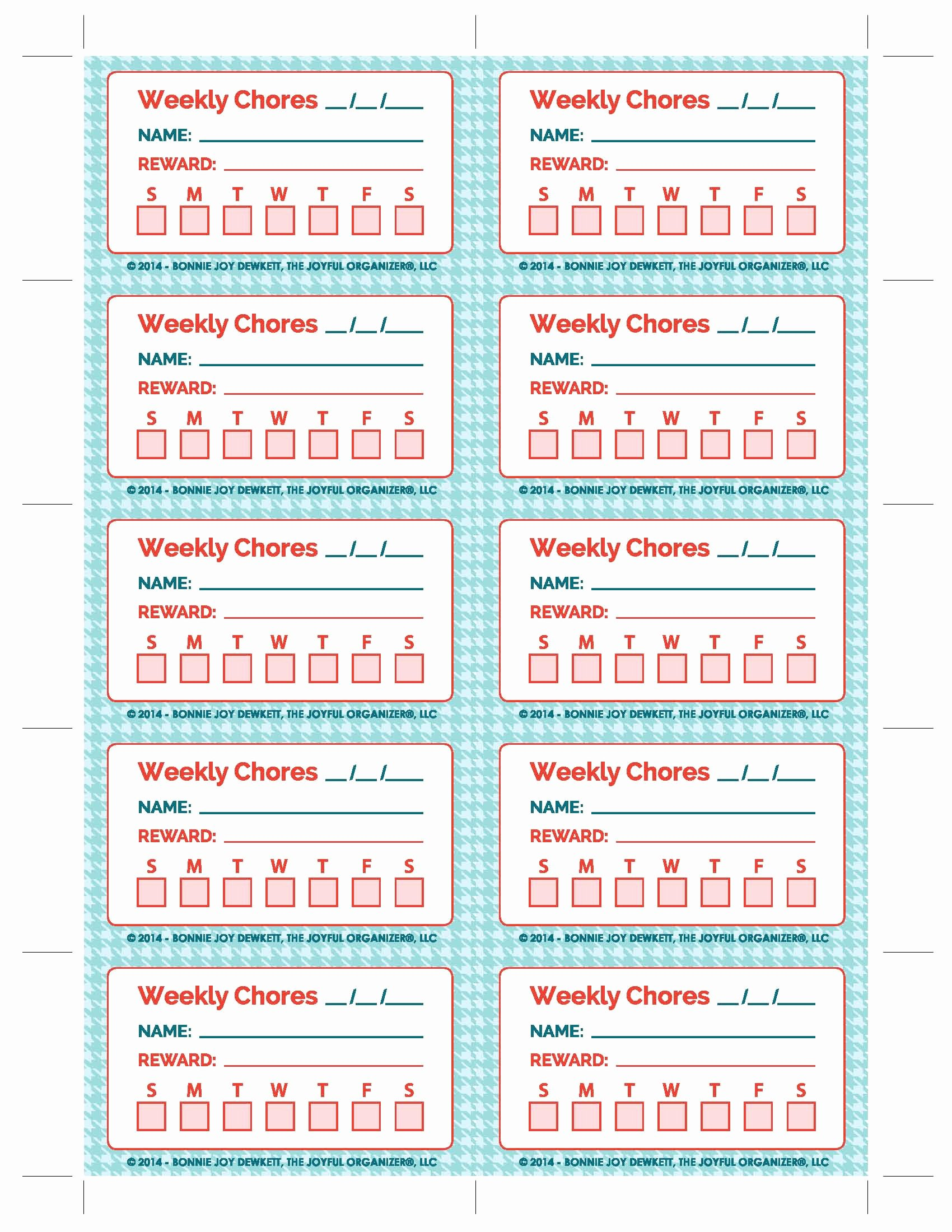 Multiple Kids Chore Chart Luxury Printable Chore Chart Printable Multiple Kids the Joyful