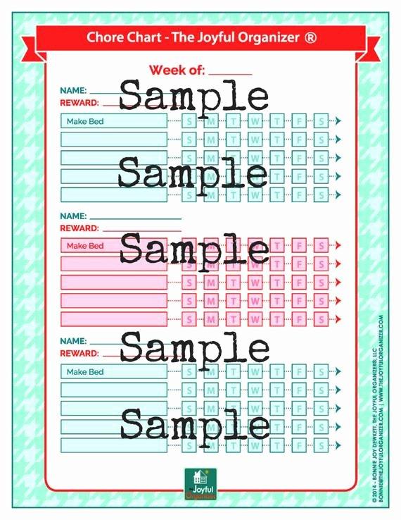 Multiple Kids Chore Chart Unique Printable Chore Chart for Multiple Kids