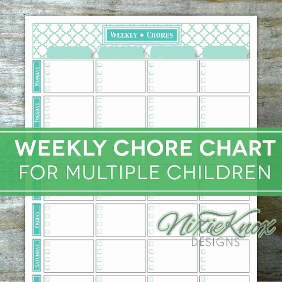 Multiple Kids Chore Chart Unique This Editable and Printable Weekly Chore Chart is the