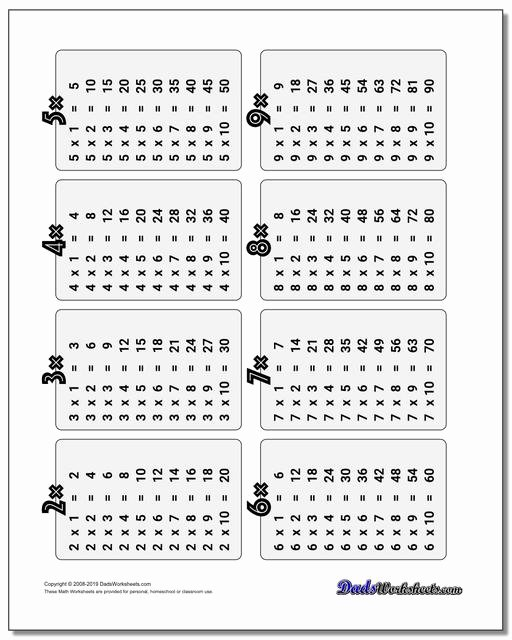 Multiplication Table Worksheet Best Of Multiplication Table