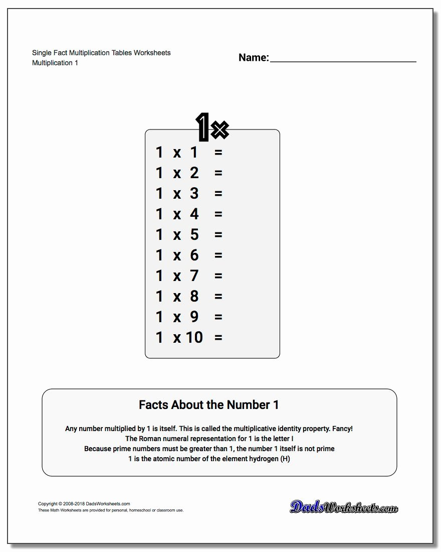 Multiplication Table Worksheet Fresh Multiplication Table