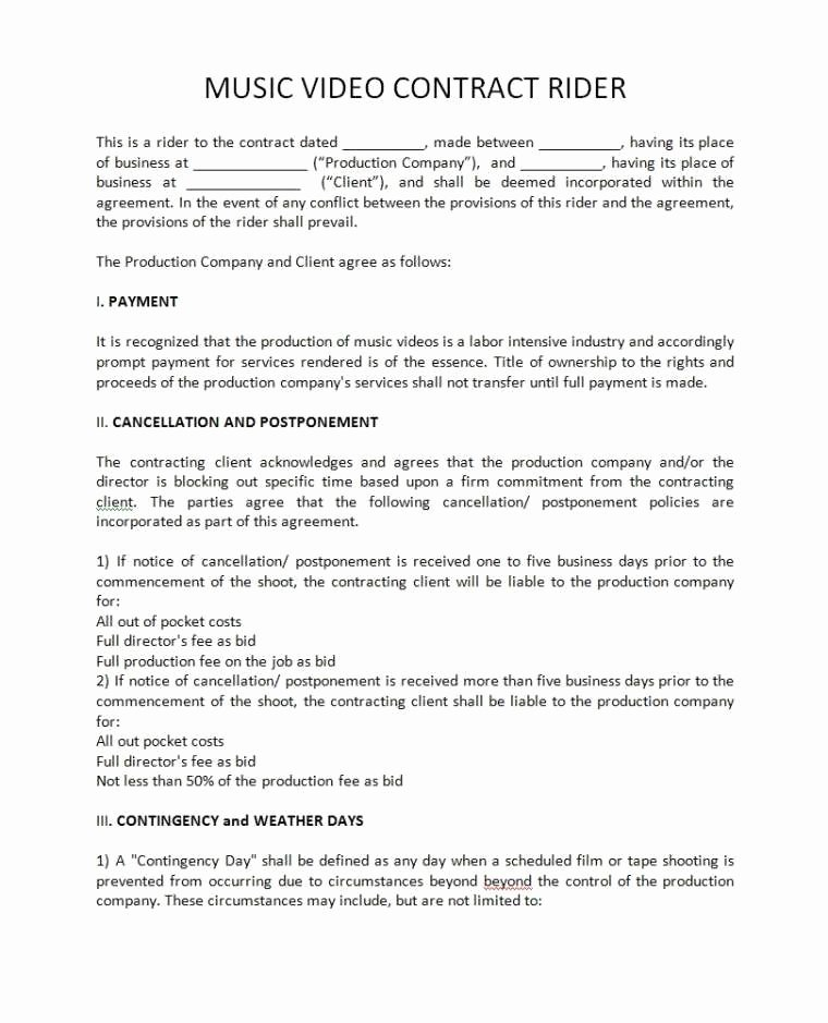 Music Producer Agreement Template Lovely Work for Hire Agreement Music Best Record Label Agreements