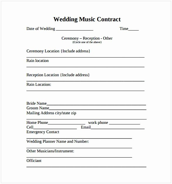 Music Production Contract Template Awesome Music Contract Template