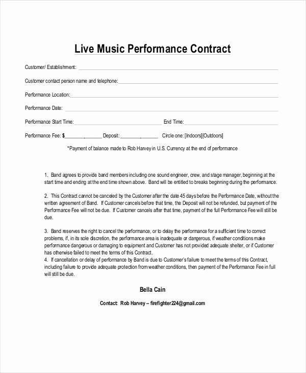 Music Production Contract Template Unique 10 Music Contract Samples & Templates Pdf Word Google