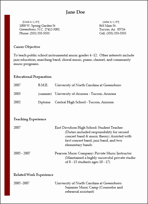 Music Teacher Resume Sample Luxury Nafme – Music Education – Resumes