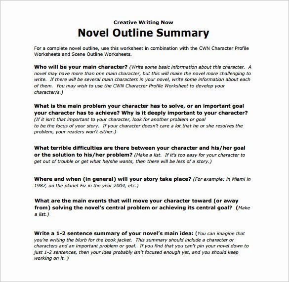 Mystery Novel Outline Template Elegant Summary Essay Example Pdf