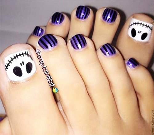 Nail Art Designs for toes Beautiful 15 Christmas toe Nail Art Designs Ideas & Stickers 2015