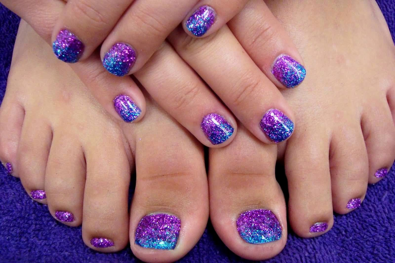 Nail Art Designs for toes Beautiful 50 Best toe Glitter Nail Art Design Ideas