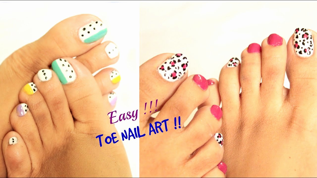 Nail Art Designs for toes Elegant 2 Easy and Quick toe Nail Art Designs Tutorial