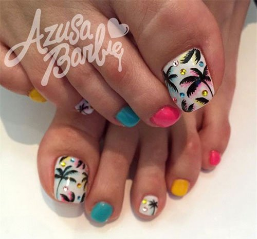 Nail Art Designs for toes New 15 Summer toe Nail Art Designs & Ideas 2016